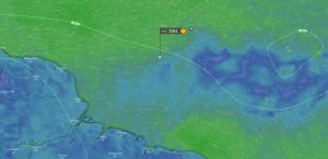 Position d'Emmanuel le 04/06/19 à 18h00 UTC : N 5°30' W 44°19'