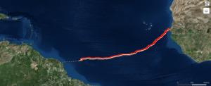 Position d'Emmanuel le 06/06/19 18h00 UTC : N5°13 / W45°32