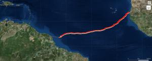 Position d'Emmanuel le 09/06/19 18h00 UTC : N4°7 / W47°44